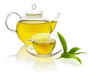 Sund grøn te i glas