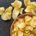Stegte chips
