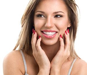 Hvide tænder efter tandblegning