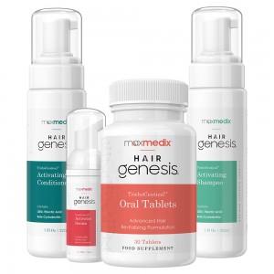 Hairgenesis Kombipakke | Naturlig Løsning Til Behandling Af Håbtab Og Tyndt Hår
