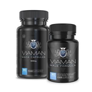 Viaman Kombipakke | Naturligt Tilskud til Mandelig Udholdenhed & Virilitet