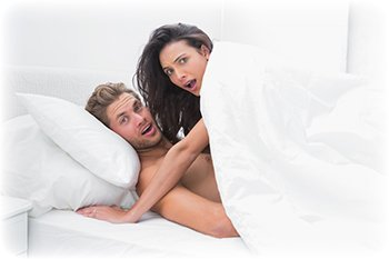 Par Overrasket Under Seksuel Akt