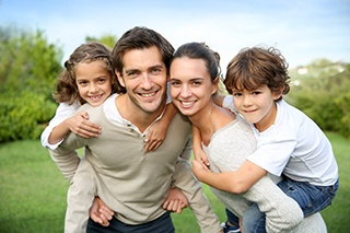Familie som er fri for ringorm