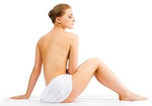 Behandling til uren hud på ryggen